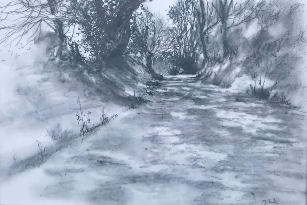 West Monkton Lane,  Graphite,  54cm x 44cm  SOLD